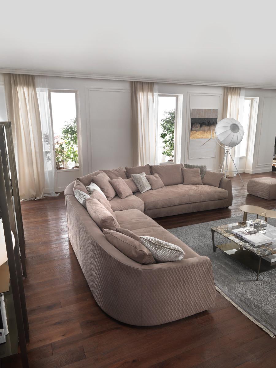 divano angolare trapuntato componibile roger roger