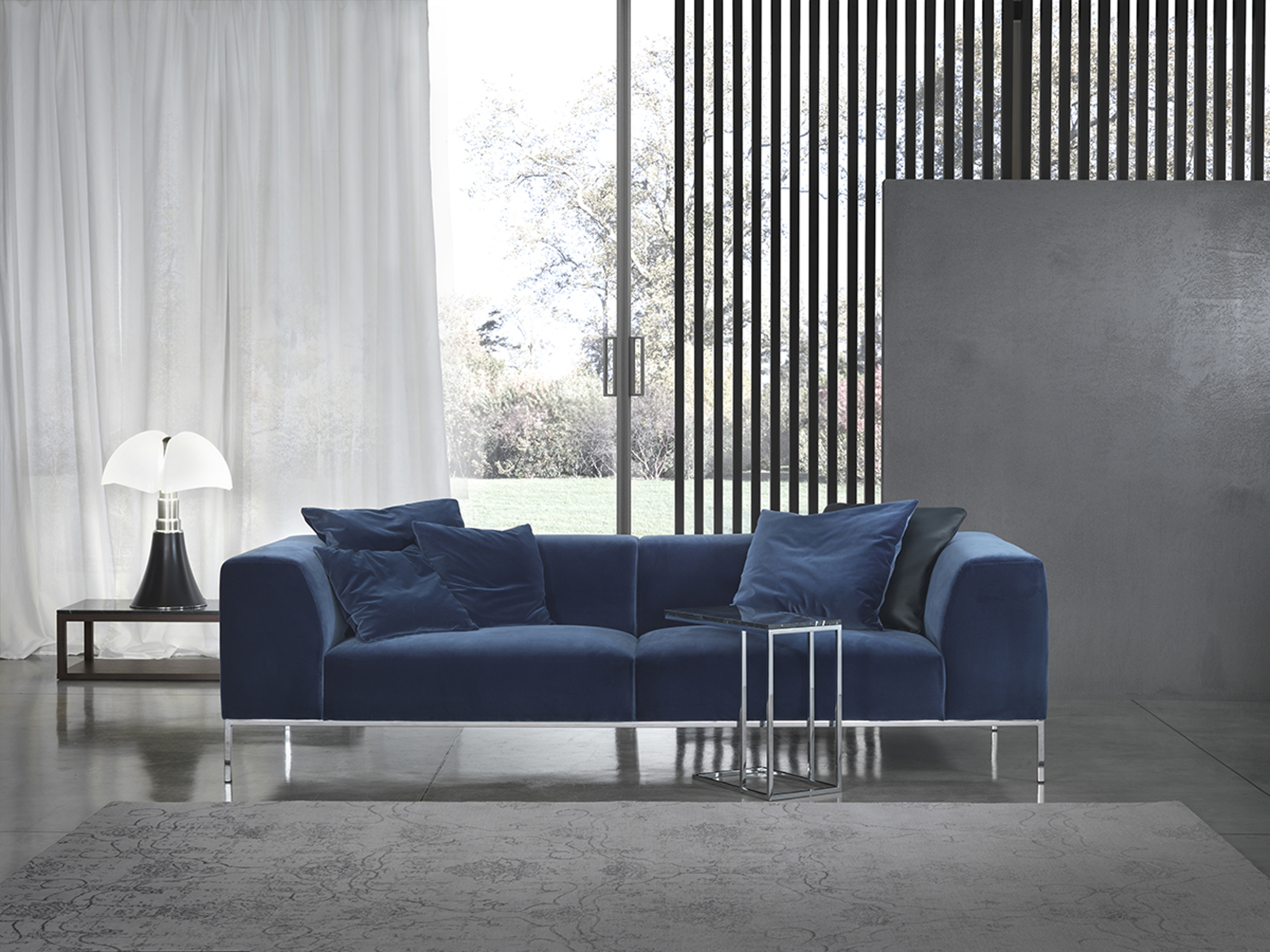 Design modern 3 seaters sofa in velvet New york