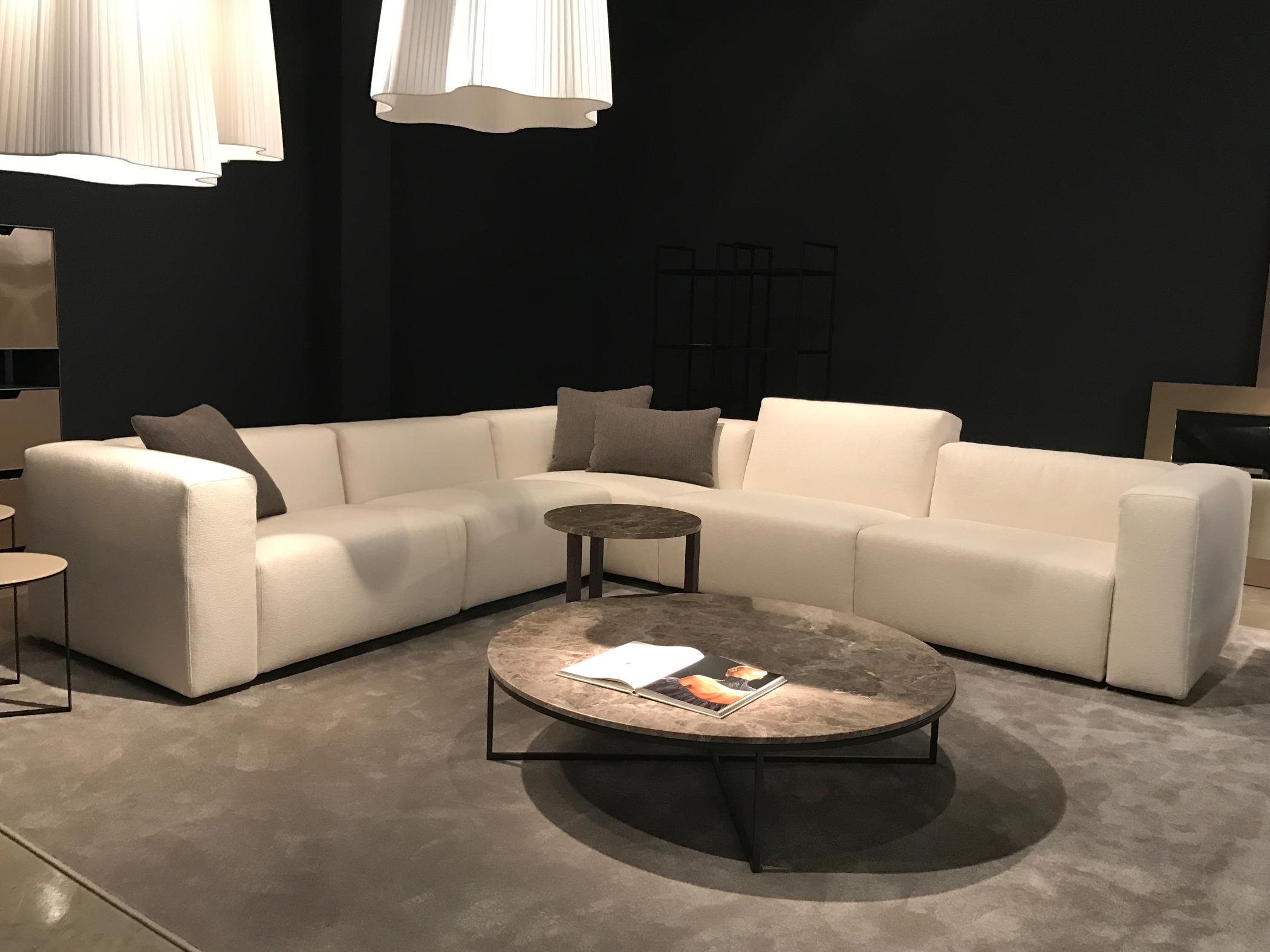 Divano angolare design divano angolare con penisola tonda - Divano roche bobois usato ...