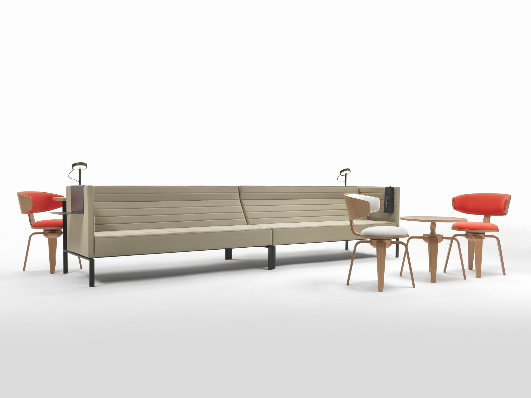 Divano contract tessuto coccoon design Stripes