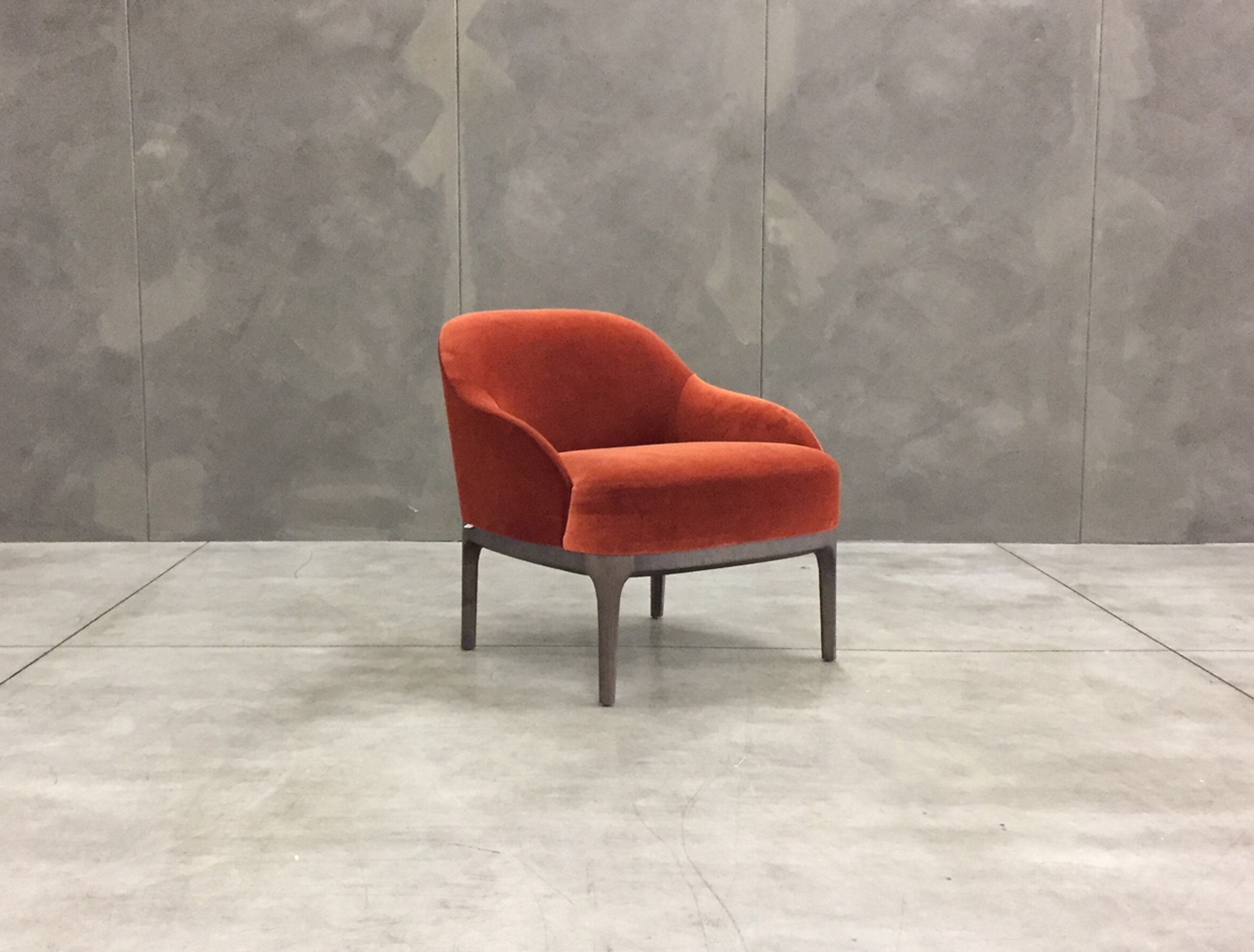 Armchair design velvet Paris