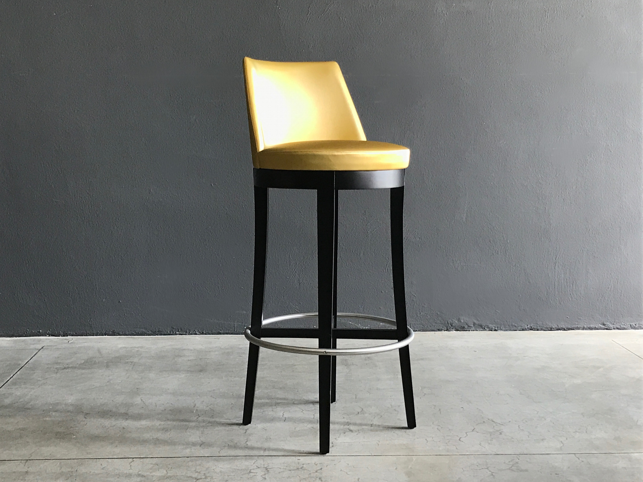 Stool contract artificial leather gold New Moscow