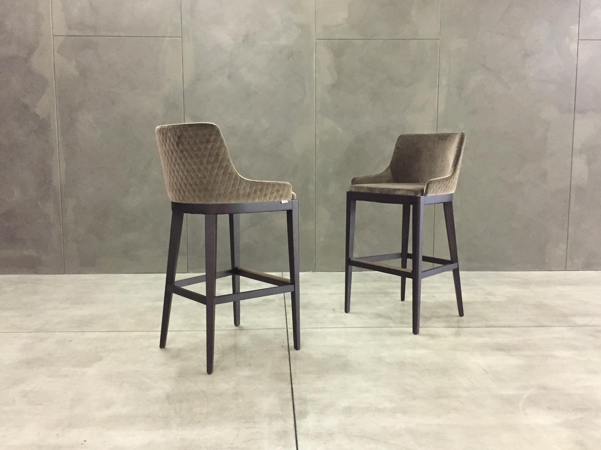 Sgabello contract casa velluto trapuntato nicole nicole stool