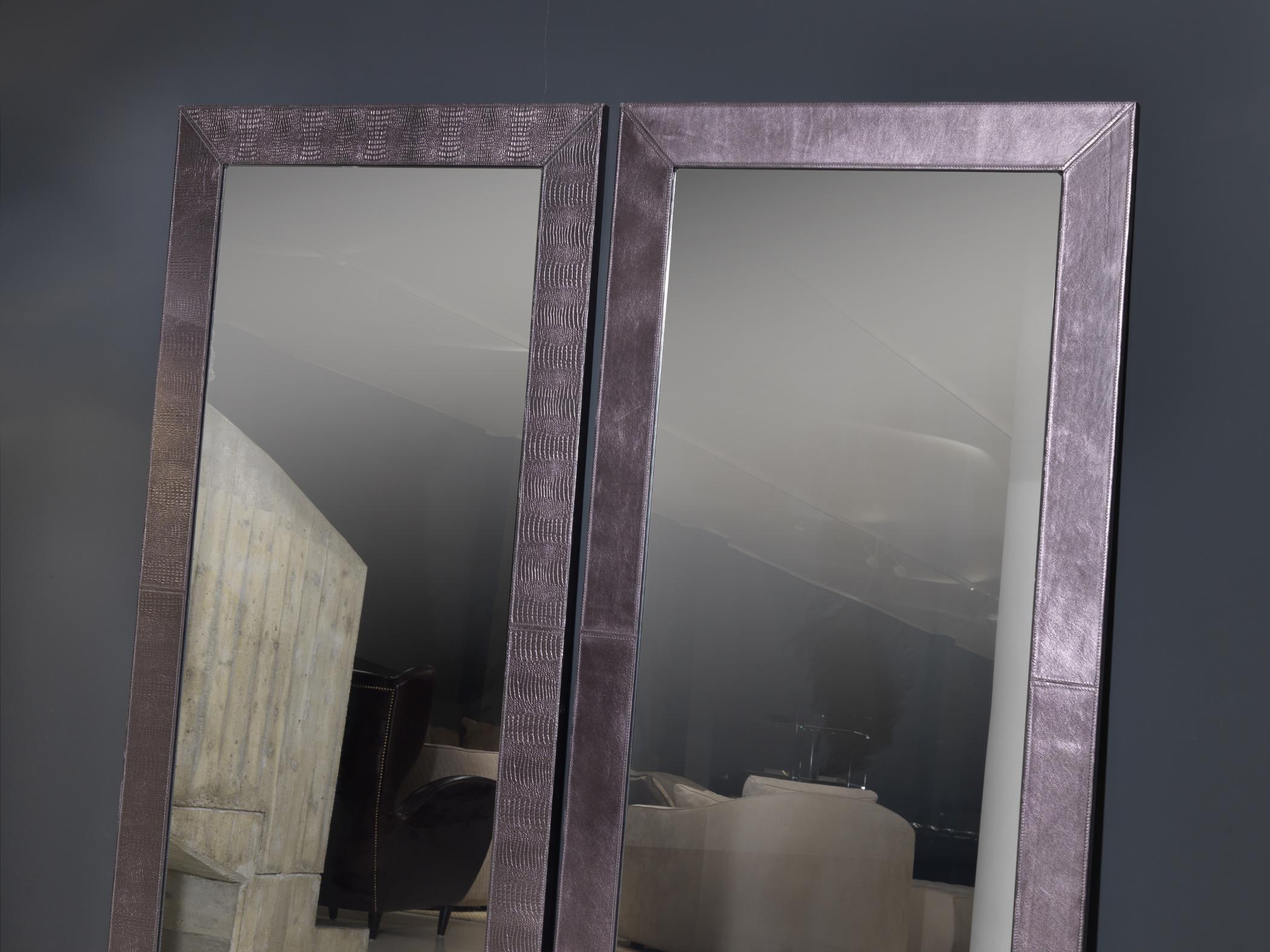 Specchi rettangolari eleganti moderniin pelle Mirror, Mirror