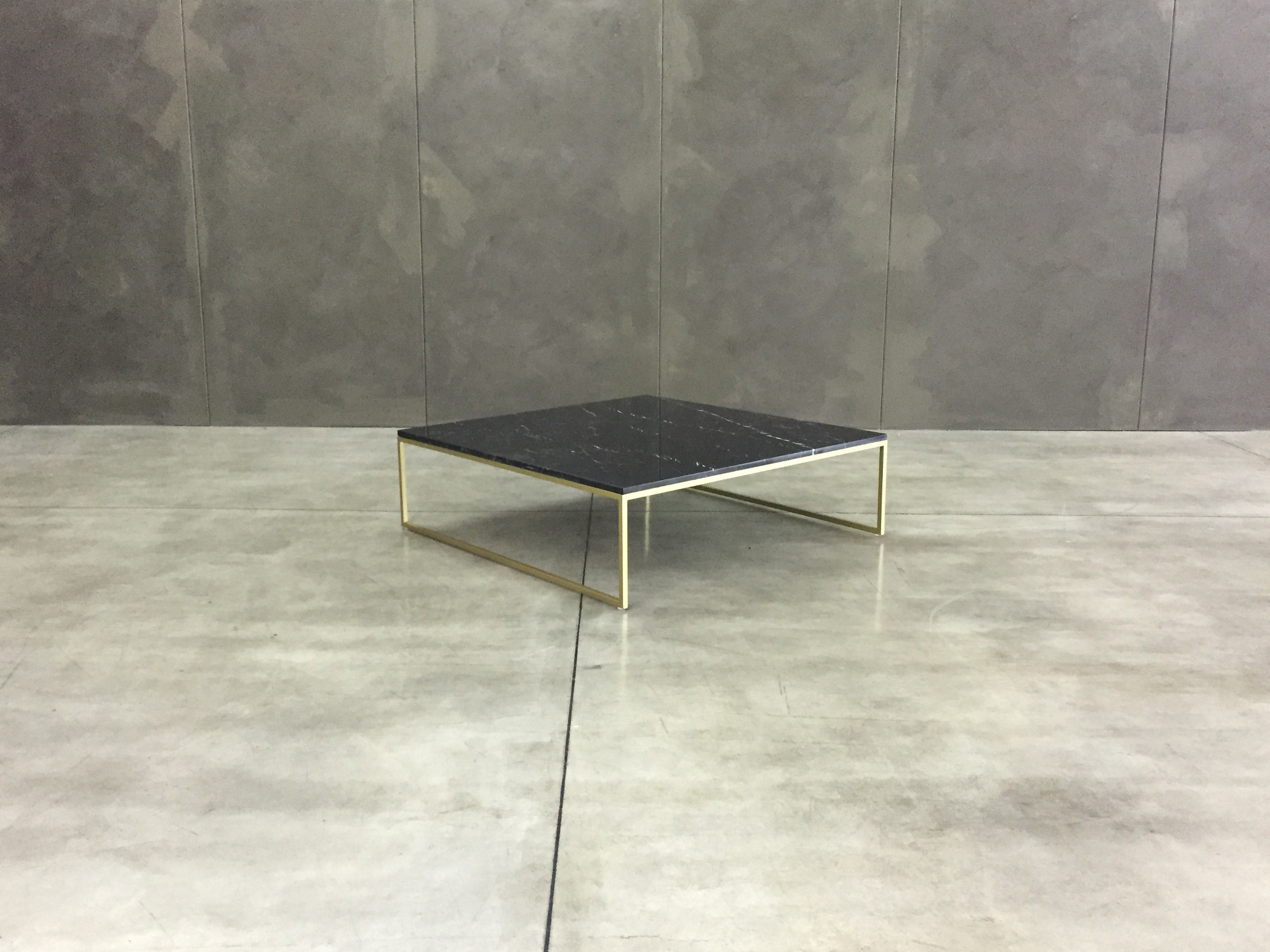 Design coffee table marble top metal base Frame