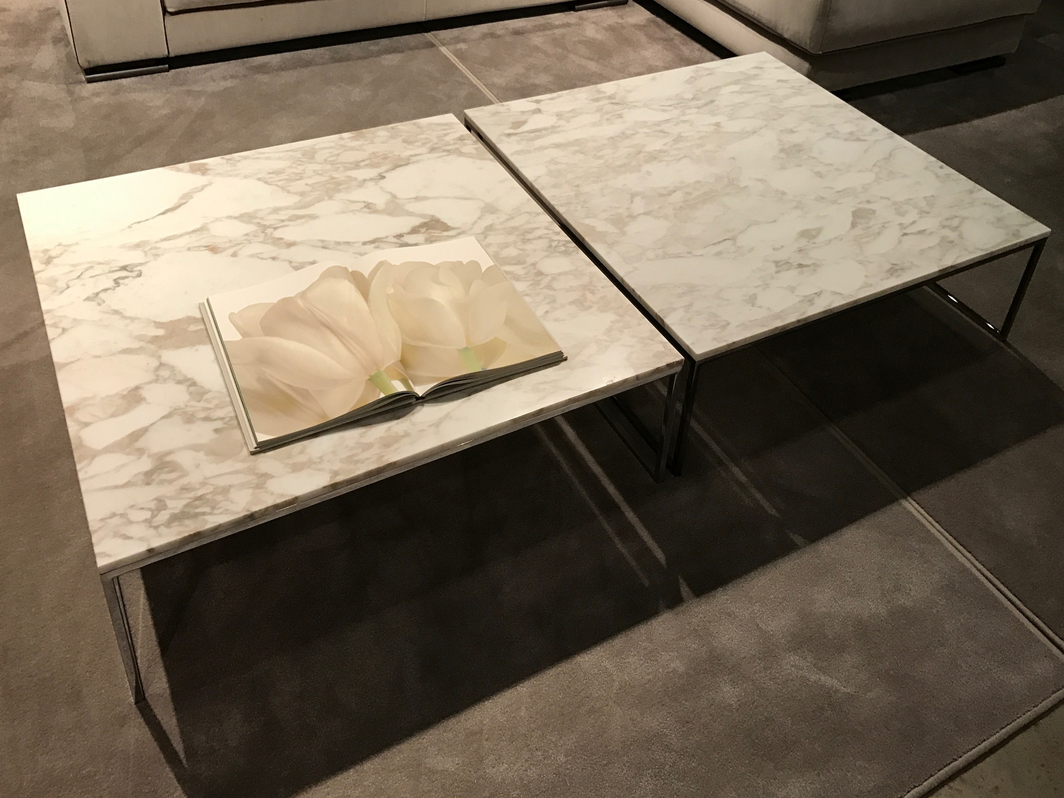 Design coffee table marble top metal base Frame, Frame