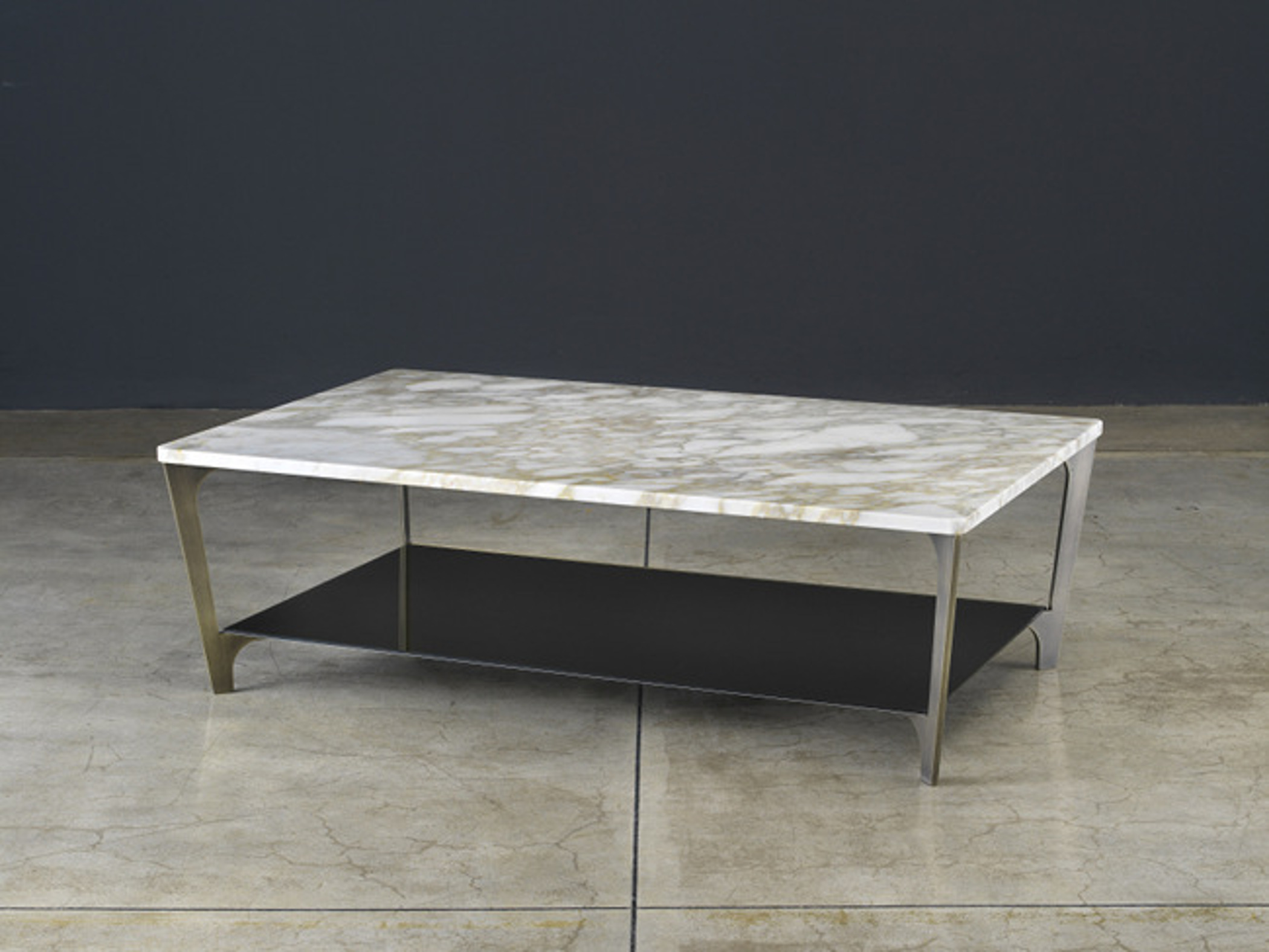 Rectangular coffee table with double tops Tab